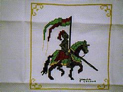 Cross stitch square for Reilly's quilt
