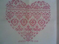 Cross stitch square for Maddison-Rayne B's quilt