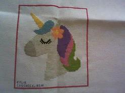 Cross stitch square for Karlia C's quilt