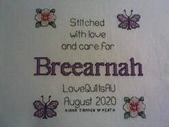 Cross stitch square for Breearnah's quilt